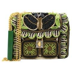 Dolce & Gabbana Miss Dolce Floral Raffia Satchel Bag