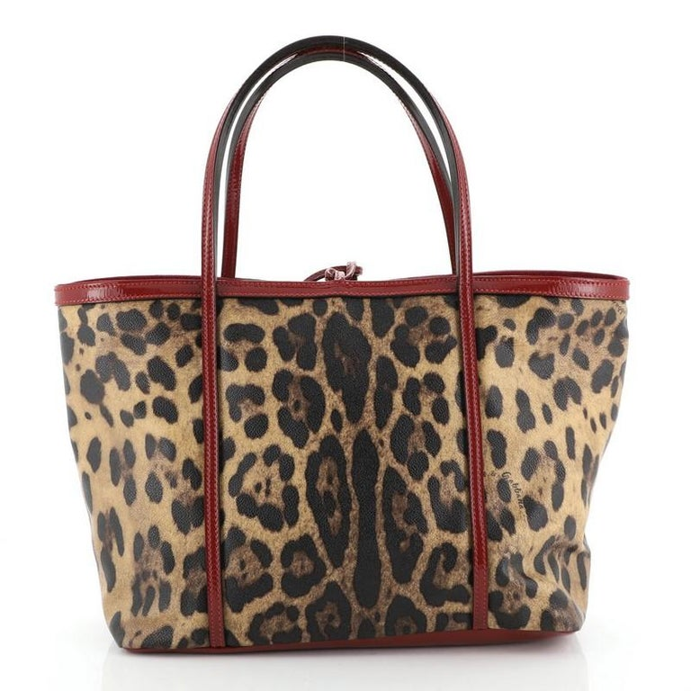 Dolce & Gabbana Miss Escape Open Tote Printed Coated Canvas Medium  In Good Condition For Sale In New York, NY