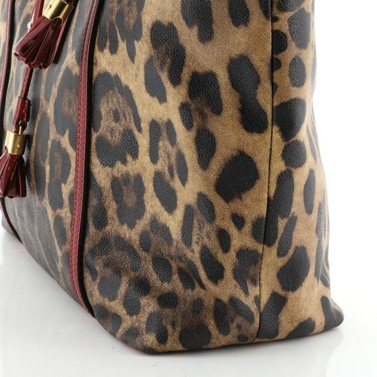 Dolce & Gabbana Miss Escape Open Tote Printed Coated Canvas Medium  For Sale 2
