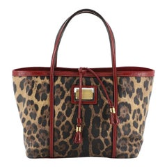 Dolce & Gabbana Miss Escape Open Tote Printed Coated Canvas Medium