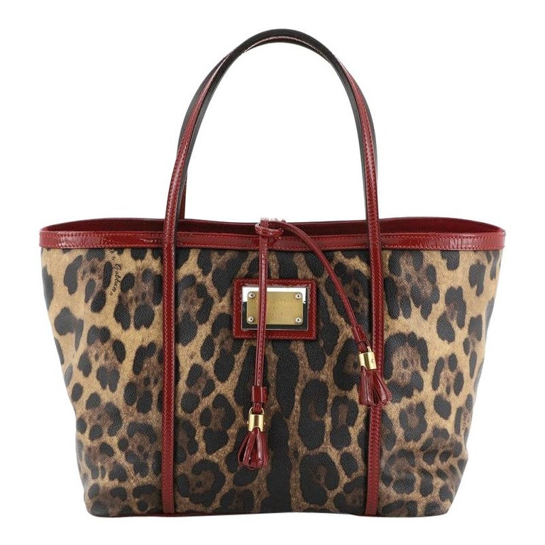Dolce & Gabbana Miss Escape Open Tote Printed Coated Canvas Medium  For Sale