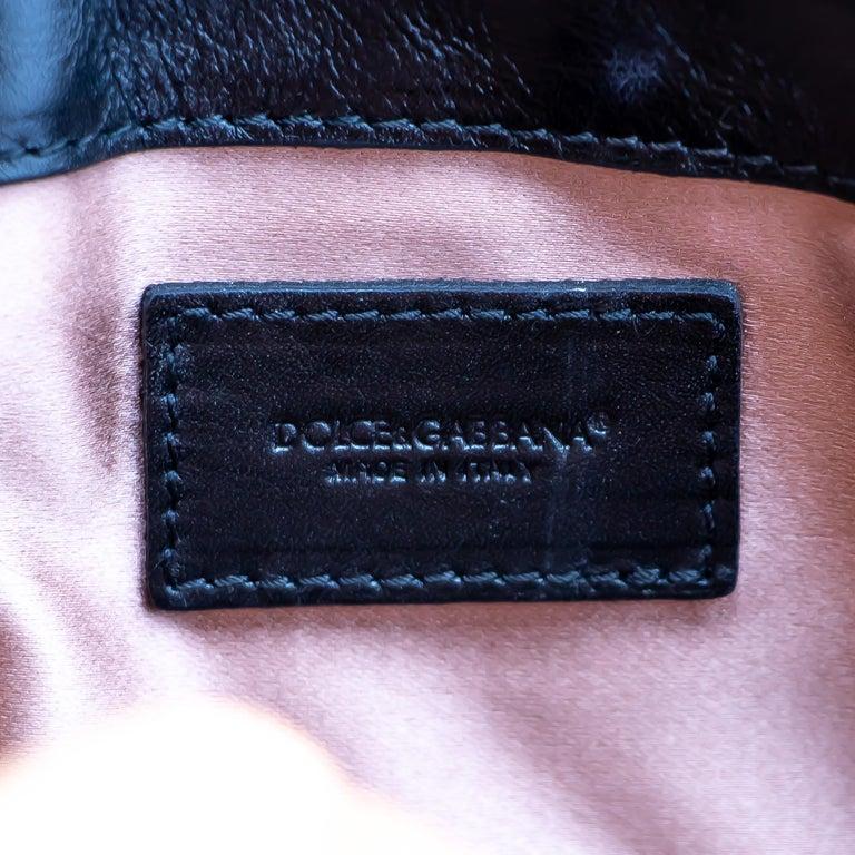Women's or Men's Dolce & Gabbana Miss Jolie Handbag Black Leather For Sale