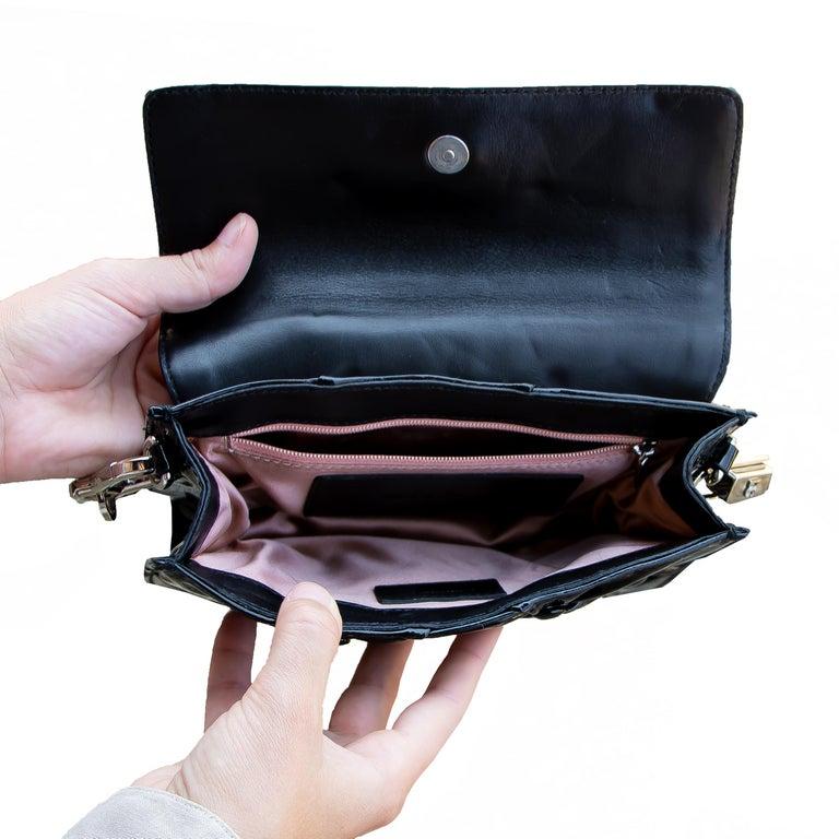 Dolce & Gabbana Miss Jolie Handbag Black Leather For Sale 2