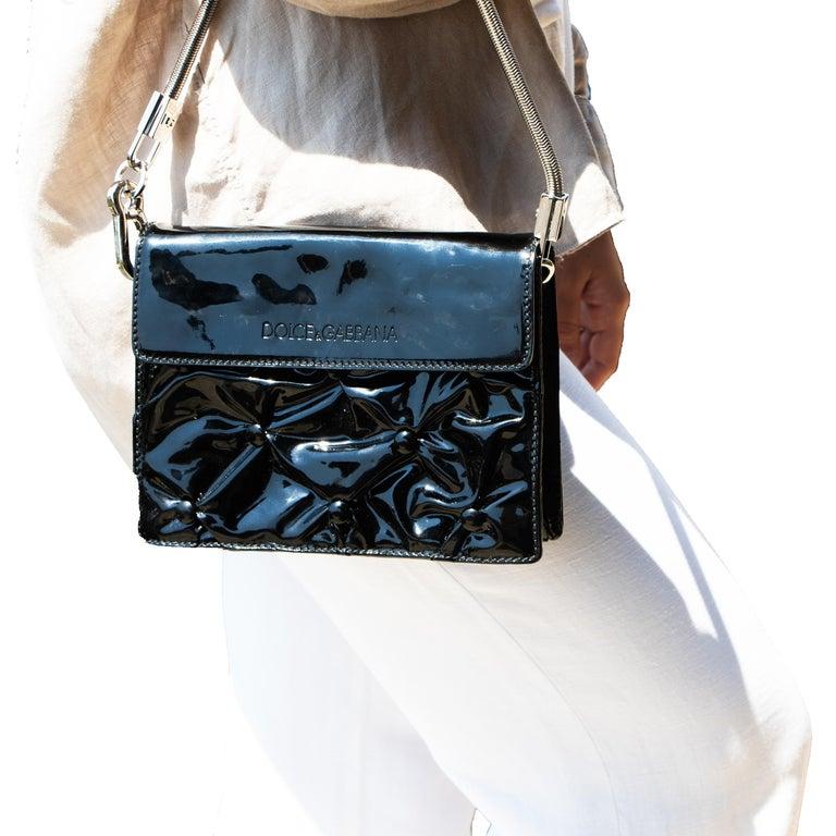 Dolce & Gabbana Miss Jolie Handbag Black Leather For Sale 3