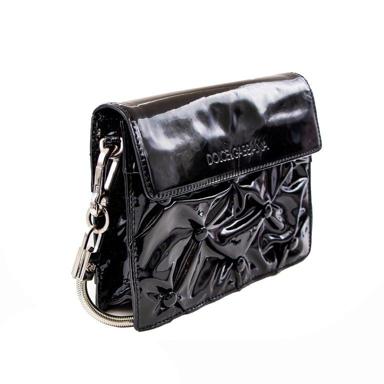 Dolce & Gabbana Miss Jolie Handbag Black Leather For Sale 4