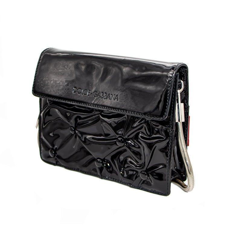 Dolce & Gabbana Miss Jolie Handbag Black Leather For Sale 5
