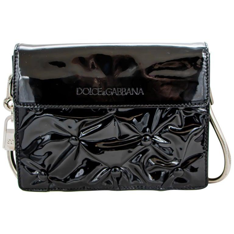 Dolce & Gabbana Miss Jolie Handbag Black Leather For Sale