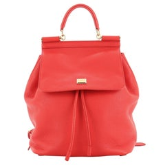 Dolce & Gabbana Miss Sicily Backpack Leather Mini