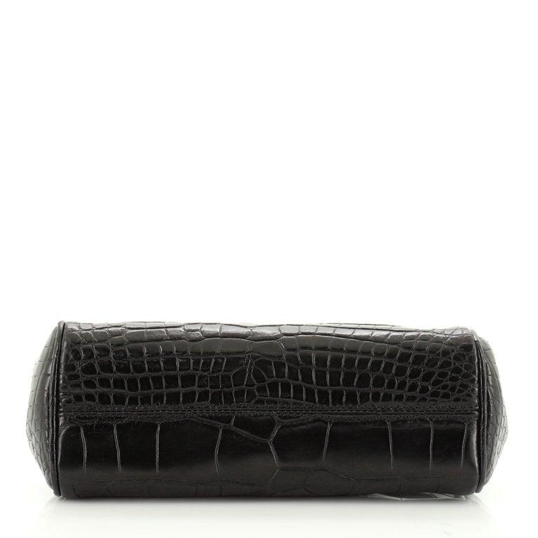 Women's or Men's Dolce & Gabbana Miss Sicily Bag Crocodile Embossed Leather Mini  For Sale