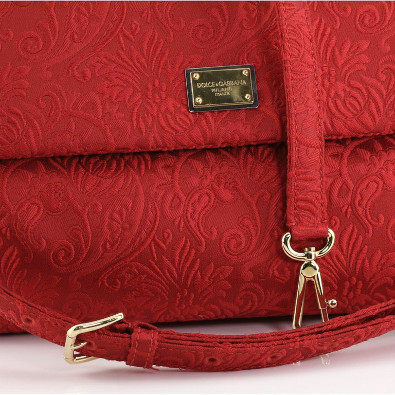 Dolce & Gabbana Miss Sicily Bag Jacquard Large For Sale 3