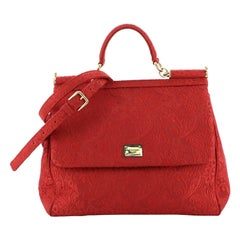 Dolce & Gabbana Miss Sicily Bag Jacquard Large