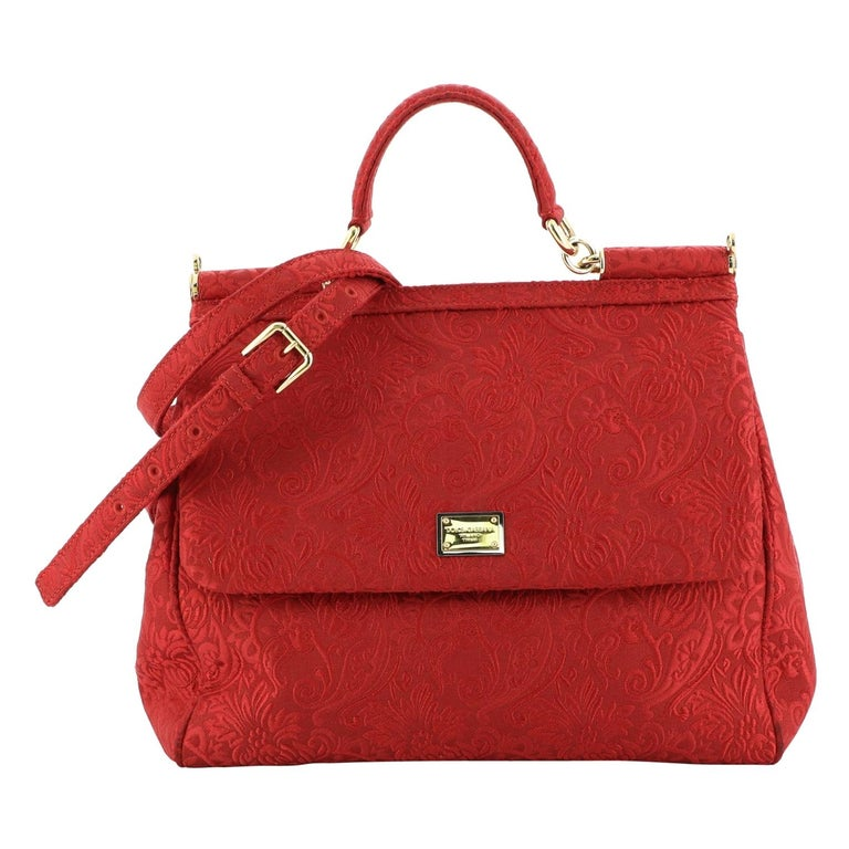 Dolce & Gabbana Miss Sicily Bag Jacquard Large For Sale