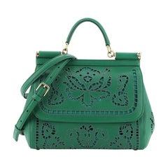 Dolce & Gabbana Miss Sicily Bag Laser Cut Leather Medium