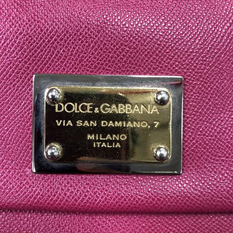 Dolce & Gabbana Miss Sicily Bag Leather Large For Sale 6