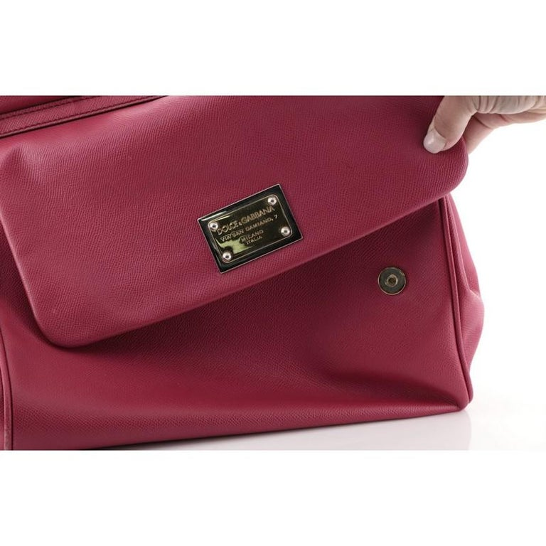 Dolce & Gabbana Miss Sicily Bag Leather Large For Sale 3