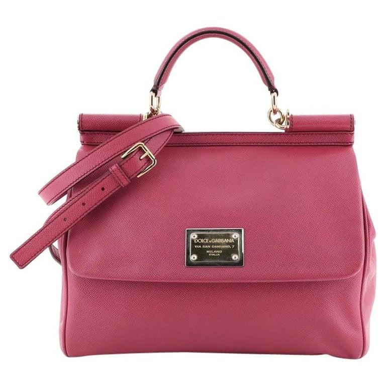 Dolce & Gabbana Miss Sicily Bag Leather Large For Sale