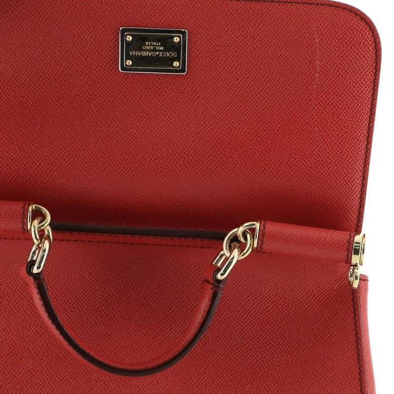 Dolce & Gabbana Miss Sicily Bag Leather Medium For Sale 1
