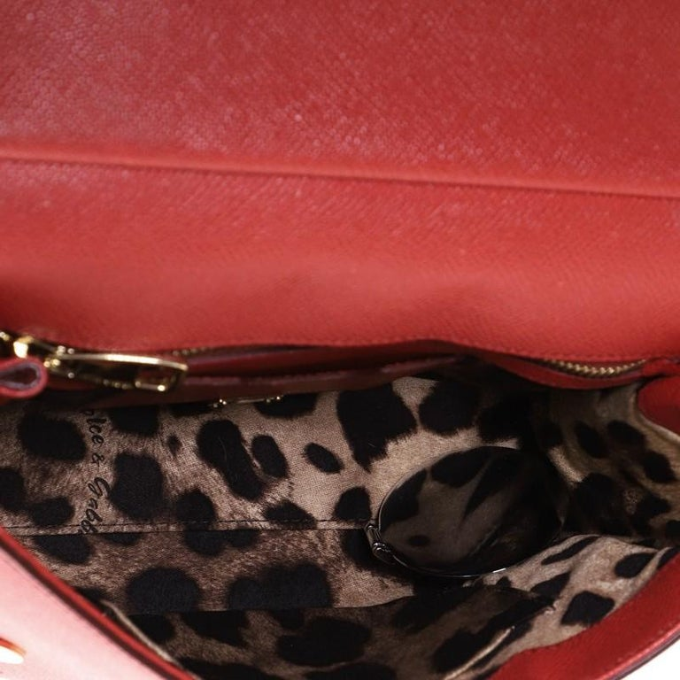 Dolce & Gabbana Miss Sicily Bag Leather Medium For Sale 2
