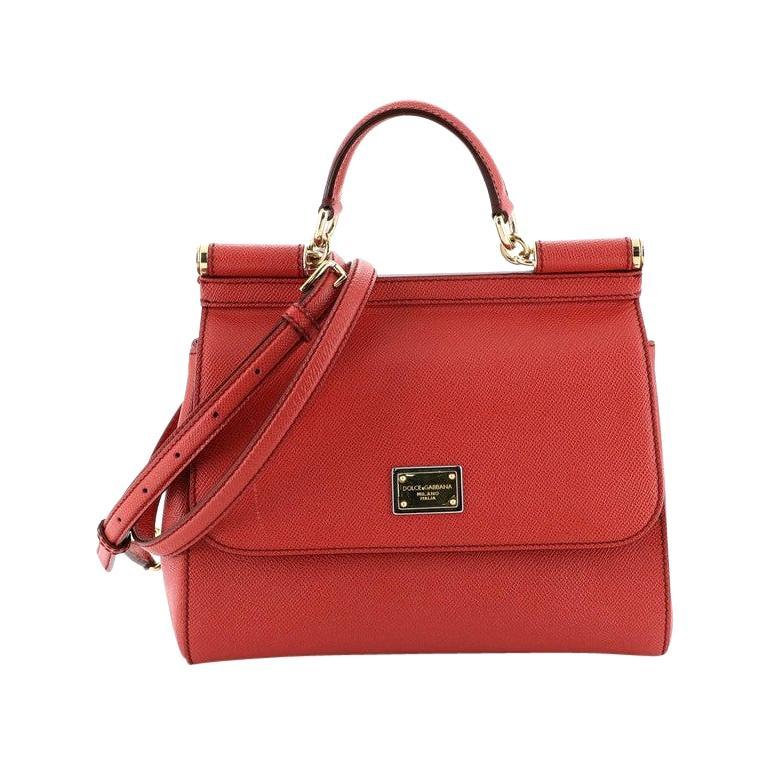 Dolce & Gabbana Miss Sicily Bag Leather Medium For Sale