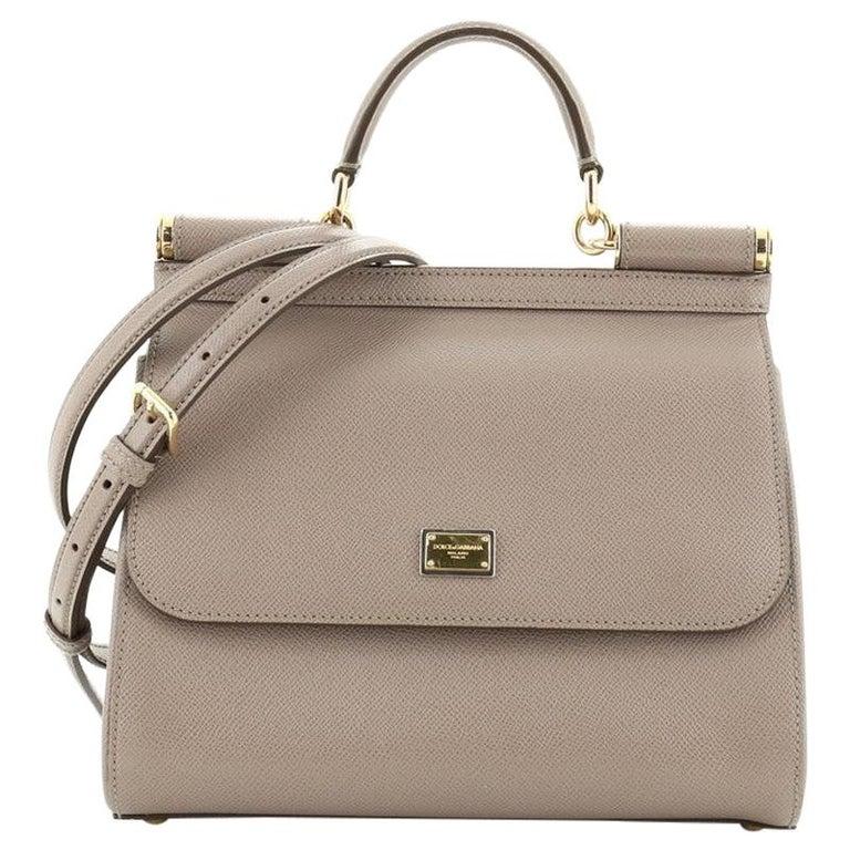 Dolce & Gabbana Miss Sicily Bag Leather Medium  For Sale