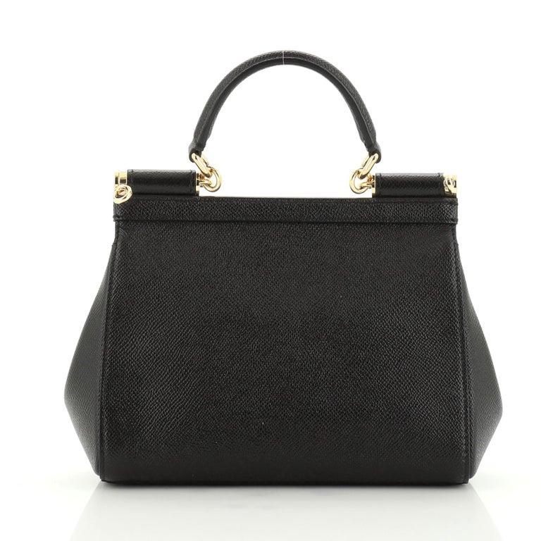 Black Dolce & Gabbana Miss Sicily Bag Leather Small