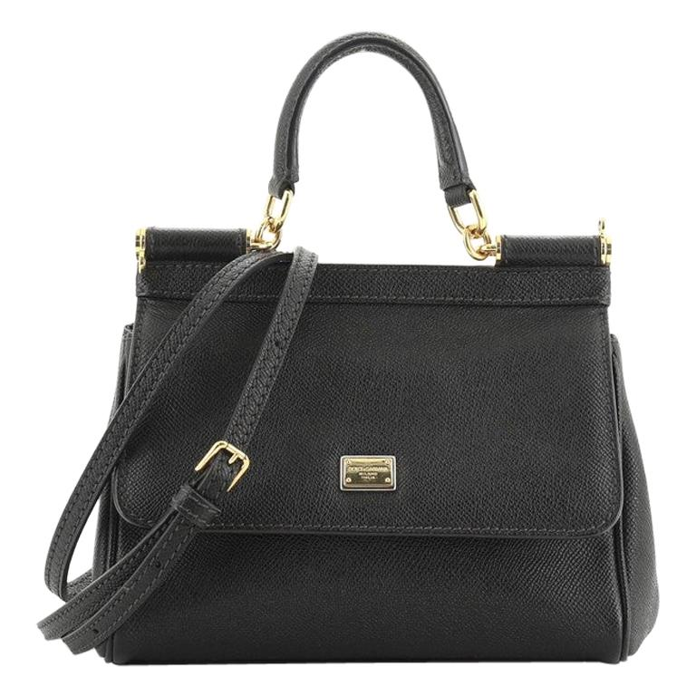 Dolce & Gabbana Miss Sicily Bag Leather Small For Sale