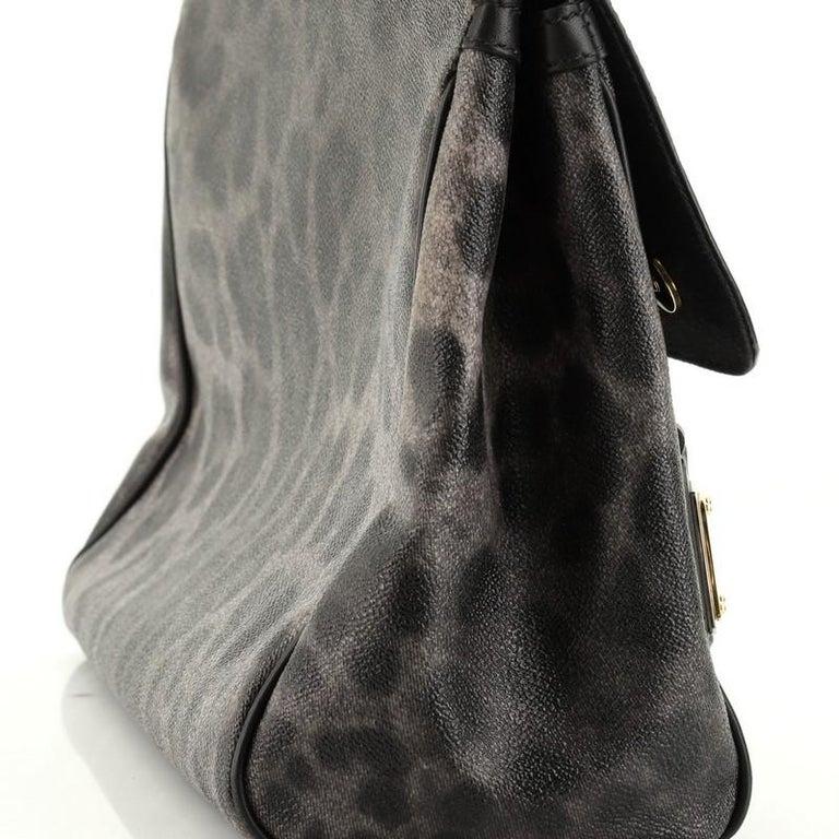 Dolce & Gabbana Miss Sicily Bag Leopard Print Leather Medium For Sale 3