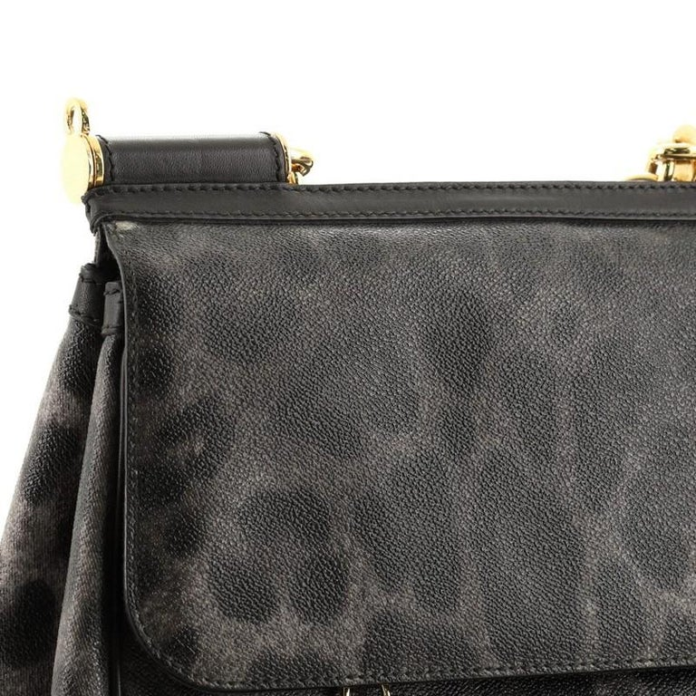 Dolce & Gabbana Miss Sicily Bag Leopard Print Leather Medium For Sale 4