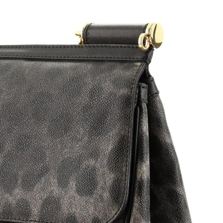 Dolce & Gabbana Miss Sicily Bag Leopard Print Leather Medium For Sale 5
