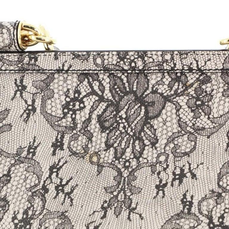 Dolce & Gabbana Miss Sicily Bag Printed Leather Large 1