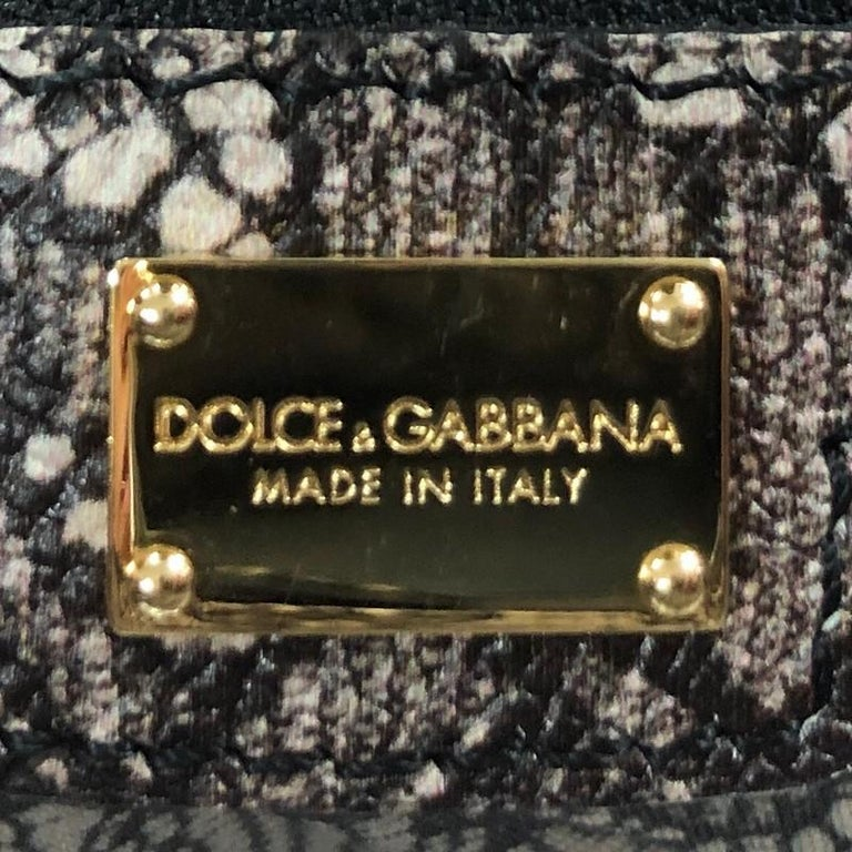 Dolce & Gabbana Miss Sicily Bag Printed Leather Large 3
