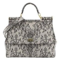 Dolce & Gabbana Miss Sicily Bag Printed Leather Large
