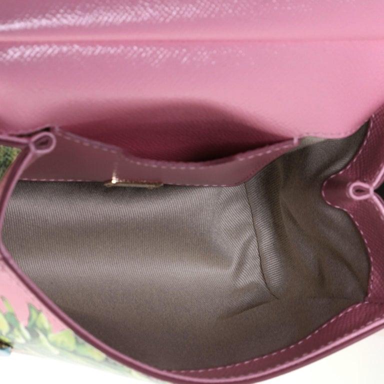 Dolce & Gabbana Miss Sicily Bag Printed Leather Mini 1