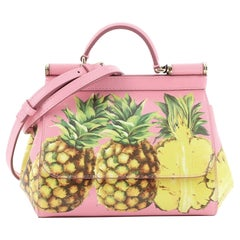 Dolce & Gabbana Miss Sicily Bag Printed Leather Mini
