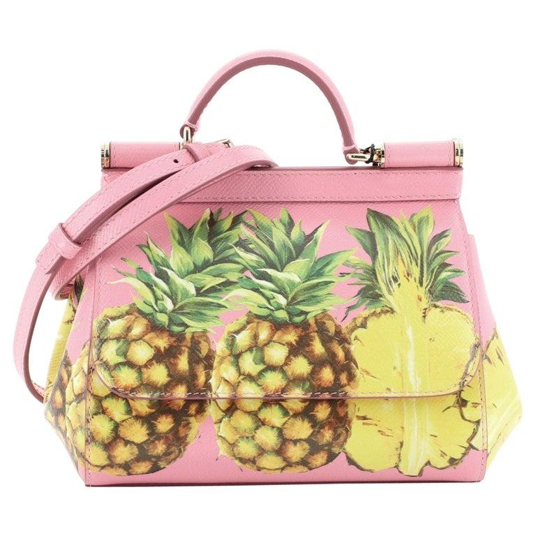 Dolce & Gabbana Miss Sicily Bag Printed Leather Mini