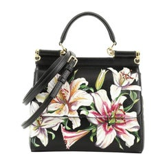 Dolce & Gabbana Miss Sicily Bag Printed Leather Small