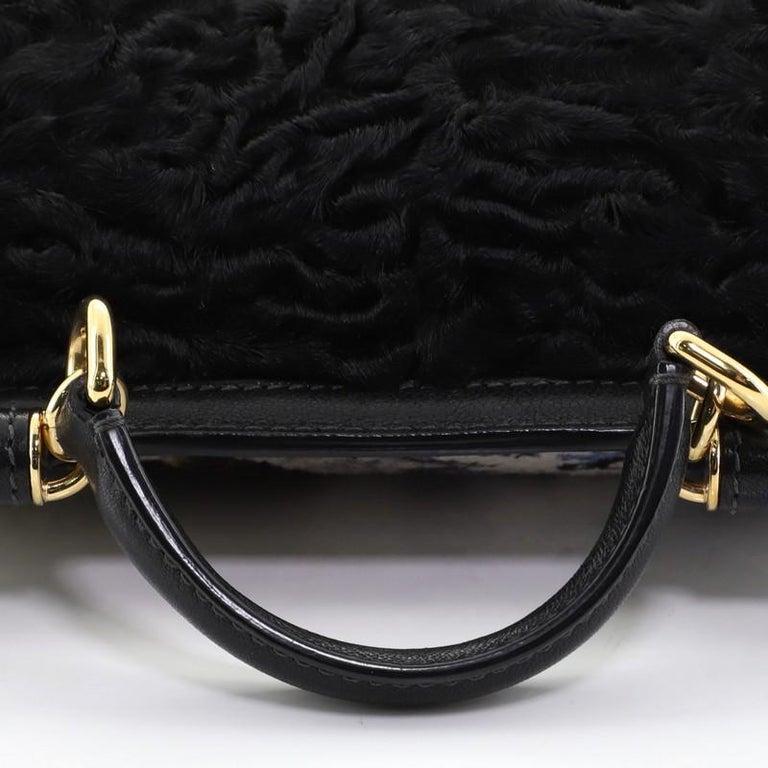 Women's or Men's Dolce & Gabbana Miss Sicily Bag Velvet and Crochet Medium For Sale