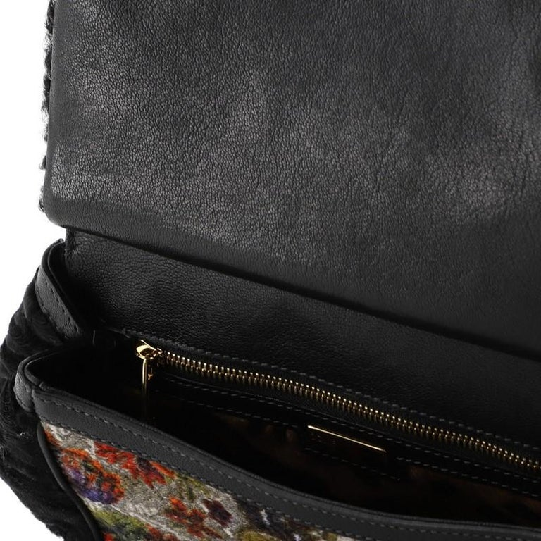 Dolce & Gabbana Miss Sicily Bag Velvet and Crochet Medium For Sale 1