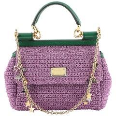 Dolce & Gabbana Miss Sicily Bag Woven Raffia Small