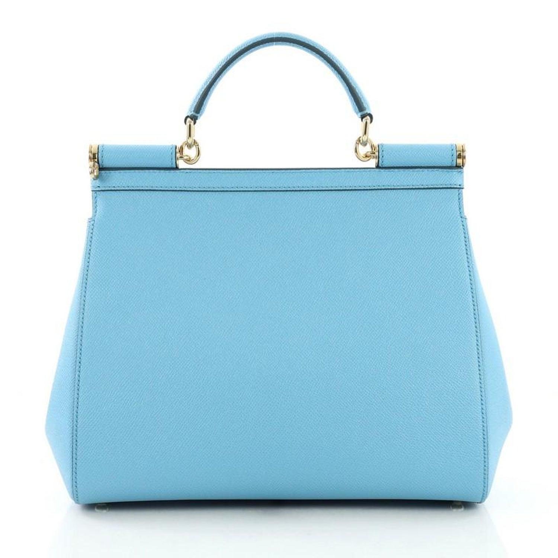 a81983476bc Dolce and Gabbana Miss Sicily Handbag Leather Medium at 1stdibs