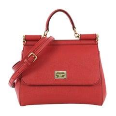 Dolce & Gabbana Miss Sicily Handbag Leather Medium