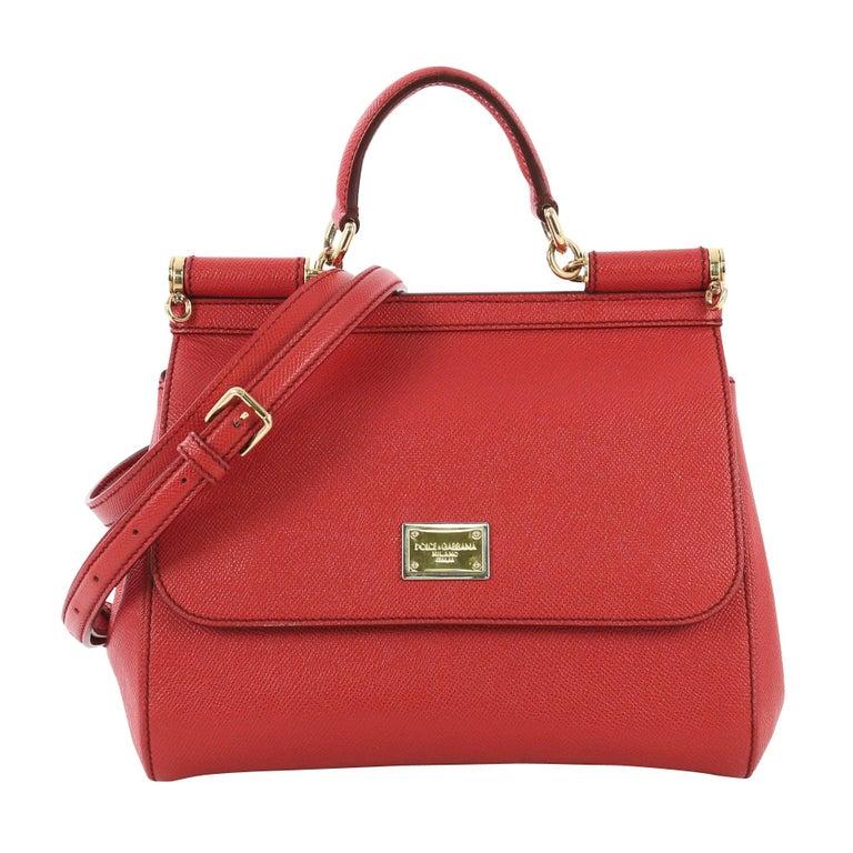 038df38f364 Dolce and Gabbana Miss Sicily Handbag Leather Medium at 1stdibs