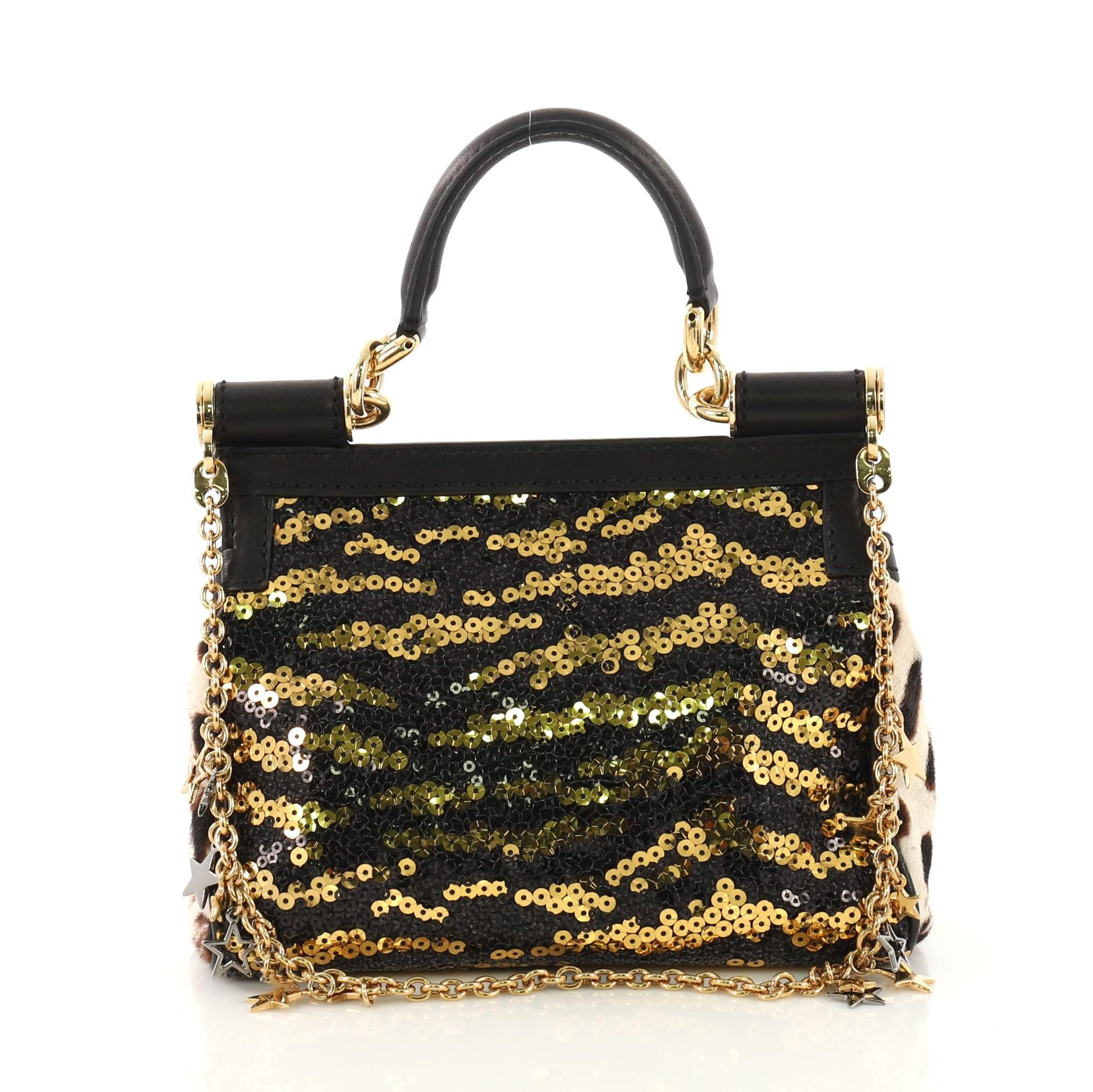 7f2e77abd6 Dolce and Gabbana Miss Sicily Handbag Sequins Small For Sale at 1stdibs