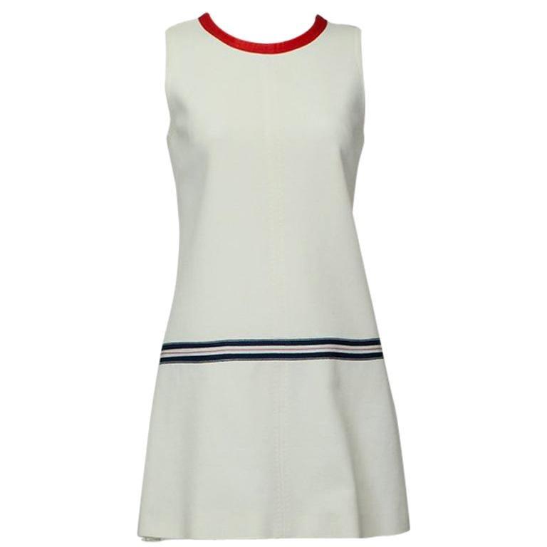 Dolce & Gabbana Mod Mini Dress with Nautical Trim and Rear Bow - Small, 2005