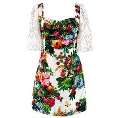 Dolce & Gabbana Multi-Colored Floral Print Dress IT 40