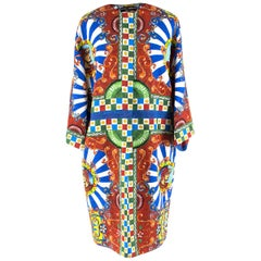 Dolce & Gabbana Multi-coloured Printed Coat IT 40