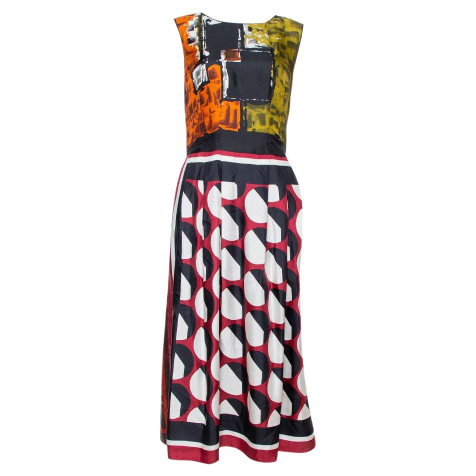 Dolce & Gabbana Multicolor Abstract Print Silk Sleeveless Dress M