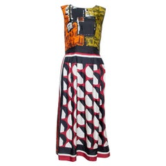 Dolce & Gabbana Multicolor Abstract Print Silk Sleeveless Dress M