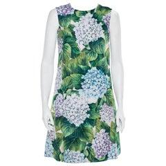 Dolce & Gabbana Multicolor Cotton Floral Print A line Dress S