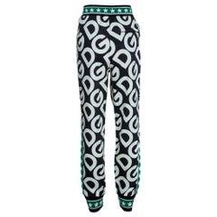 Dolce & Gabbana Multicolor DG Mania Print Cotton Jersey Track Pants IT 40